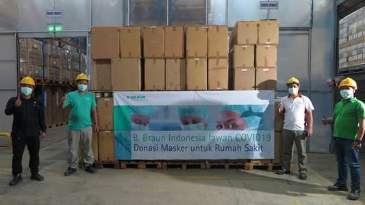 b. braun indonesia donates 170,000 mask for the indonesia covid-19 hospital