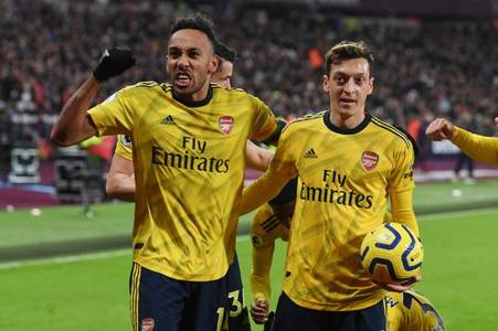 ozil ranks above aubameyang as arsenal's best converters of chances ranked