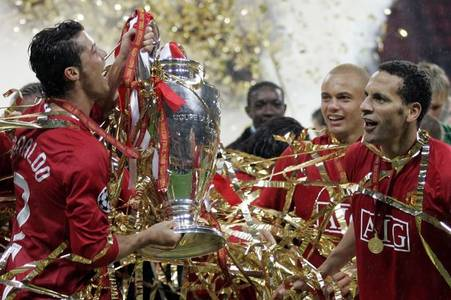 rio ferdinand details cristiano ronaldo's reaction to champions league win