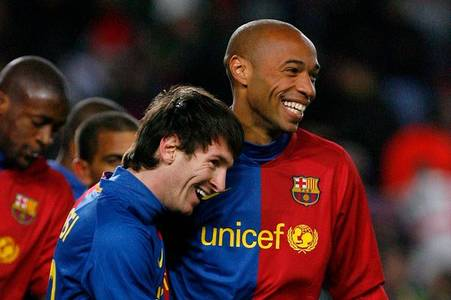 lionel messi explains why he 'could not look' at thierry henry at barcelona