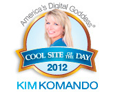 Kim Komdando site of the day award