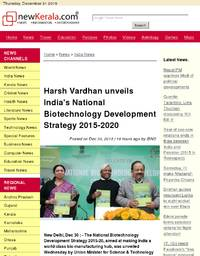 Harsh Vardhan unveils India's National Biotechnology Development Strategy 2015-2020
