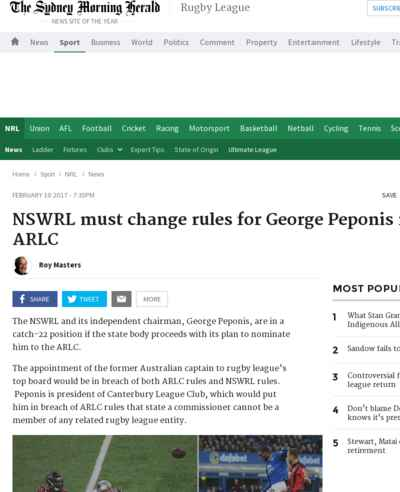 NSWRL must change rules for George Peponis move to ARLC