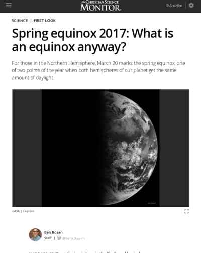 Spring equinox 2017: What is an equinox anyway?