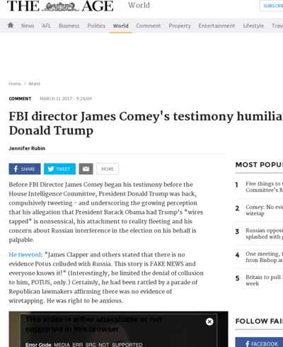 FBI director James Comey's testimony humiliates Donald Trump