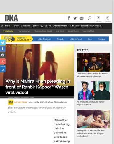 Why is Mahira Khan pleading in front of Ranbir Kapoor? Watch viral video!
