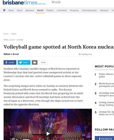 Volleyball game spotted at North Korea nuclear test site