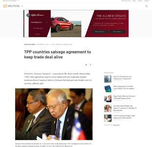 TPP countries salvage agreement to keep trade deal alive
