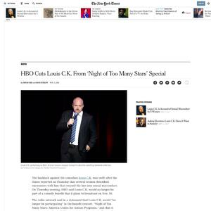 HBO Cuts Louis C.K. From 'Night of Too Many Stars' Special