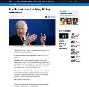Brazil court case involving Hickey suspended