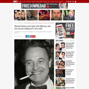 Sherlock Holmes actor dead: John Hillerman, who also starred in Magnum P.I. dies at 84