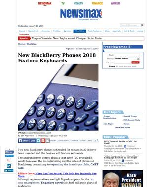 New BlackBerry Phones 2018 Feature Keyboards