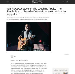 Top Picks: Cat Stevens' 'The Laughing Apple,' 'The Simple Faith of Franklin Delano Roosevelt,' and more top picks