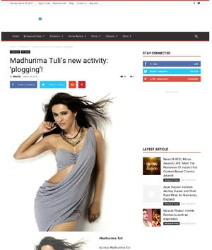 Madhurima Tuli's new activity: 'plogging'!