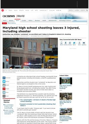 Maryland high school shooting leaves 3 injured, including shooter