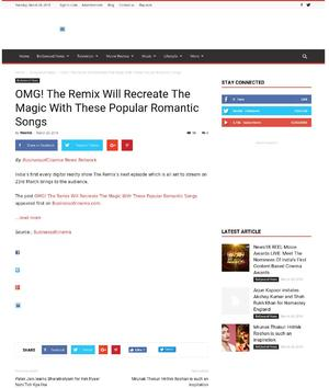 OMG! The Remix Will Recreate The Magic With These Popular Romantic Songs