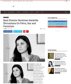 Best Director Nominee Alankrita Shrivastava On Films, Sex and Feminism