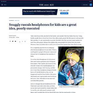 Snuggly rascals headphones for kids are a great idea, poorly executed