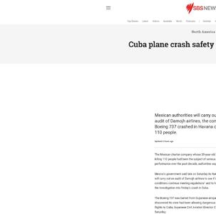 Cuba plane crash safety complaint claims