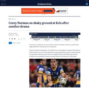 Corey Norman on shaky ground at Eels after another drama