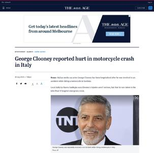 Image Result For George Clooney Hurt In Italy Motorcycle Crash Reports