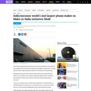 India becomes world's 2nd largest phone maker on Make-in-India initiative: Modi