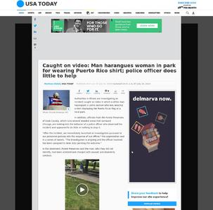 Caught on video: Man harangues woman in park for wearing Puerto Rico shirt; police officer does little to help