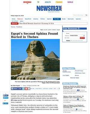 Egypt's Second Sphinx Found Buried in Thebes