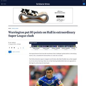Warrington put 80 points on Hull in extraordinary Super League clash