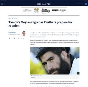 Tamou's Moylan regret as Panthers prepare for reunion