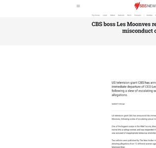 CBS boss Les Moonves resigns over sexual misconduct claims