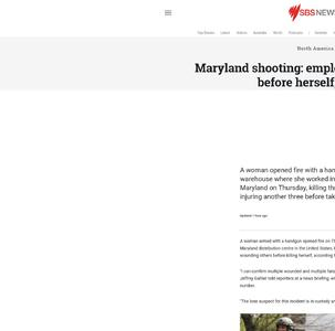 Maryland shooting: employee kills 3 people before herself, police