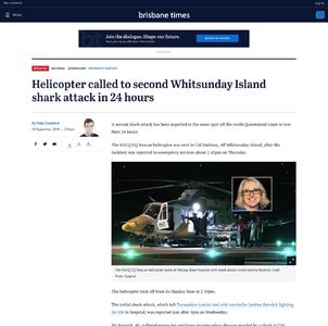 Helicopter called to second Whitsunday Island shark attack in 24 hours