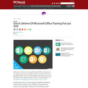 Get A Lifetime Of Microsoft Office Training For Just $29