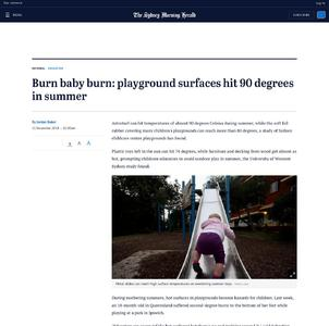 Burn baby burn: playground surfaces hit 90 degrees in summer