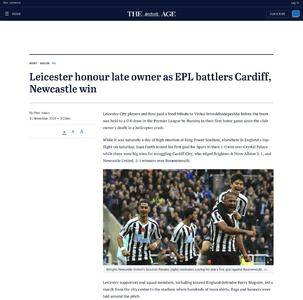 Leicester honour late owner as EPL battlers Cardiff, Newcastle win