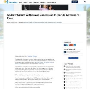 Andrew Gillum Withdraws Concession In Florida Governor's Race