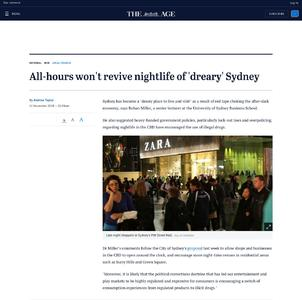 All-hours won't revive nightlife of 'dreary' Sydney