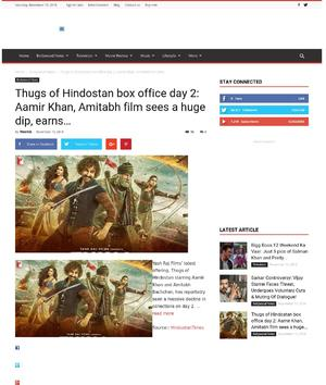 Thugs of Hindostan box office day 2: Aamir Khan, Amitabh film sees a huge dip, earns…