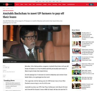 Amitabh Bachchan to meet UP farmers to pay off their loans