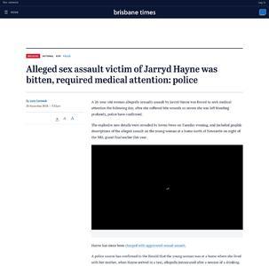 Alleged sex assault victim of Jarryd Hayne was bitten, required medical attention: police