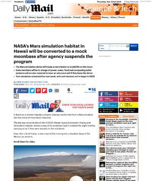 NASA's Mars simulator in Hawaii will convert to a mock moonbase after agency suspends the program