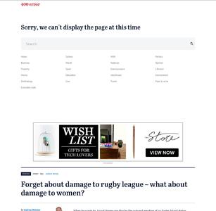 Forget about damage to rugby league – what about damage to women?