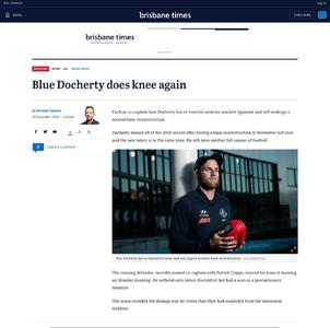 Blue Docherty does knee again