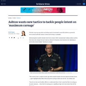 Ashton wants new tactics to tackle people intent on 'maximum carnage'