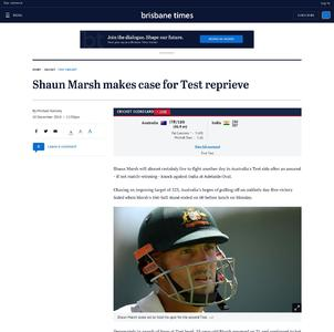 Shaun Marsh makes case for Test reprieve