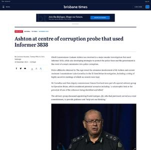 Ashton at centre of corruption probe that used Informer 3838