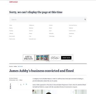 James Ashby's business convicted and fined