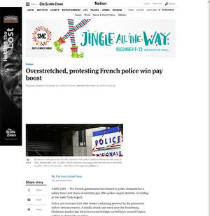 Overstretched, protesting French police win pay boost