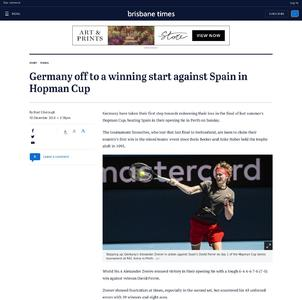 Germany off to a winning start against Spain in Hopman Cup